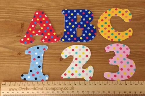 <!-- 001 -->Iron On Fabric Uppercase Letters and Numbers 7.5 cm (3 Inch ) W