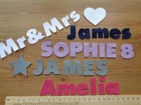 <!-- 003 -->3cm Chunky Font, Felt Letters &amp; Numbers x 10. Upper and Lowercase