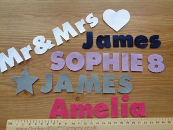 3cm Chunky Font, Felt Letters & Numbers x 10. Upper and Lowercase