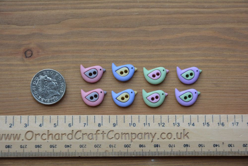 Dress It Up - Craft Buttons - Sew Cute Birds