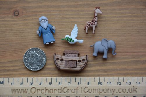Dress It Up -  Embellishments - Noah's Ark Buttons