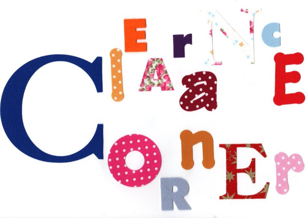 <!-- 009 --> Clearance Corner
