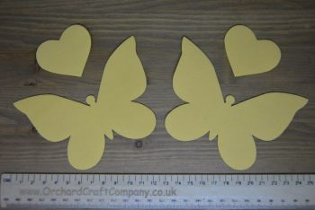 2 Iron On Butterflies in plain colours iron on fabric