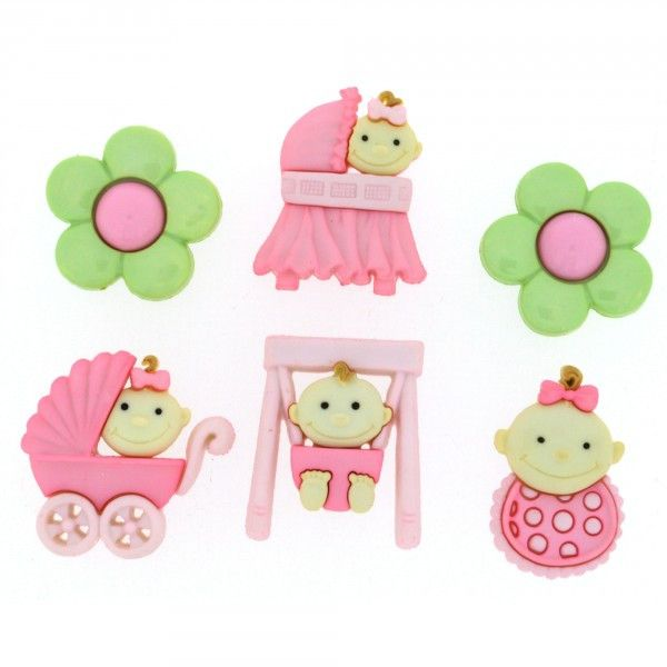 Dress It Up Buttons - Baby Fun - Girl
