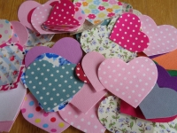 Iron On Hearts (Pack of 50) Sewable or No Sew options