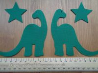 Fabric Iron On Dinosaurs, Plain colours