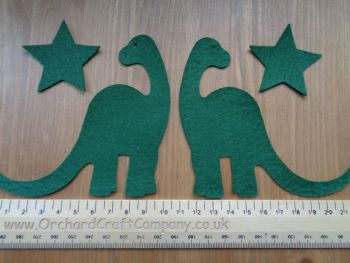 2  Felt Dinosaurs,Plain colours