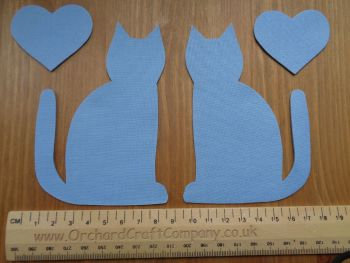 Felt Calico Cats x 2 with hearts