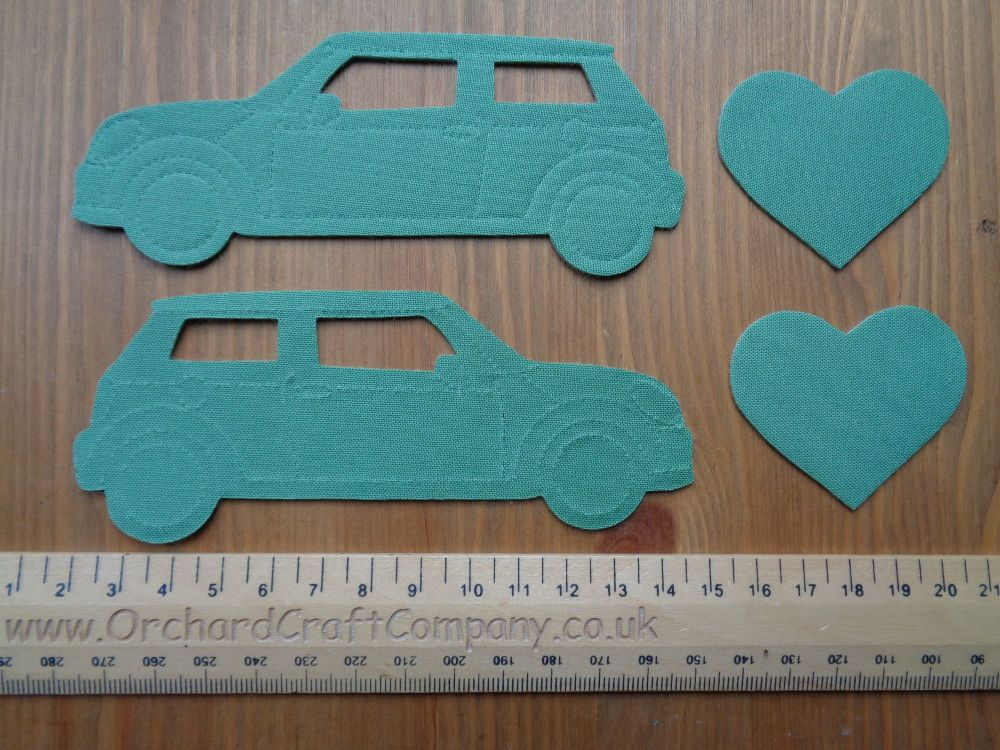 Iron On MINI COOPER CARS Set of 2 Applique