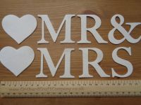 Fabric Iron on Letters,MR & MRS, MR & MR, MRS & MRS  Iron On Fabric (No Sew)