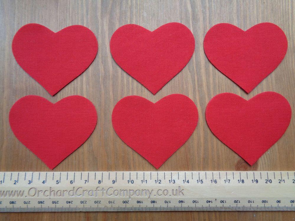 Iron on fabric applique hearts