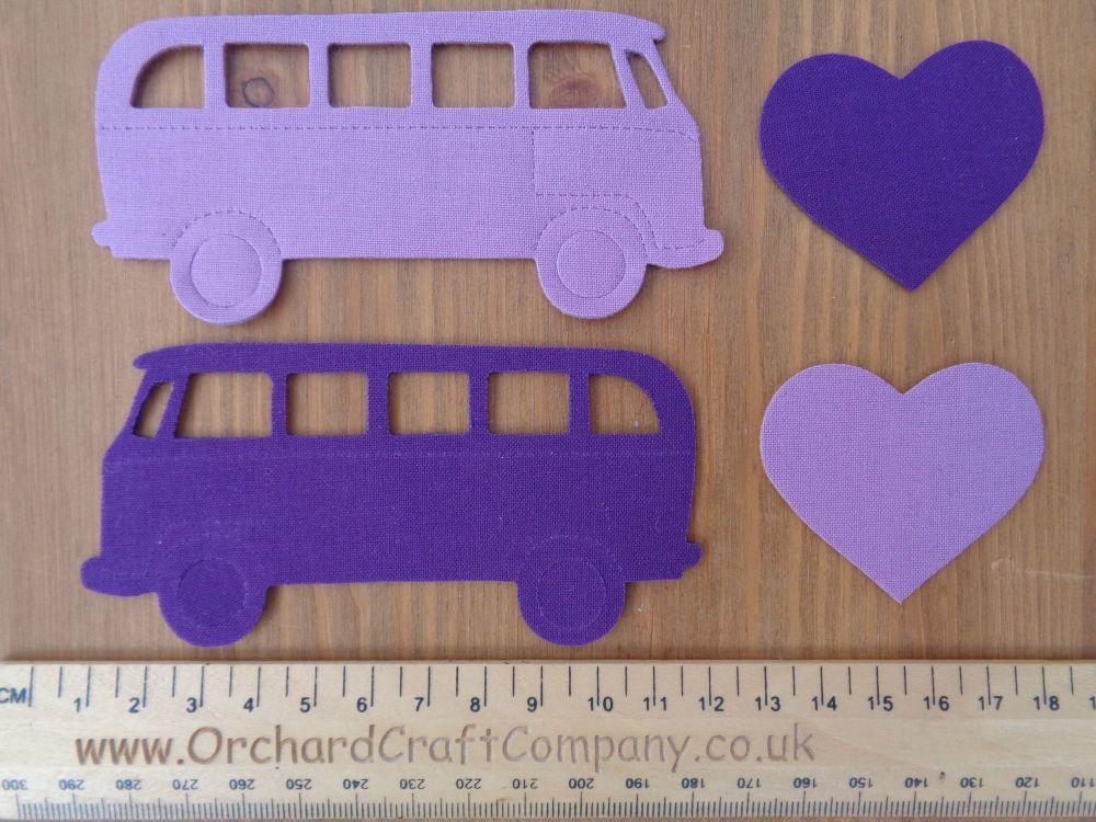 Set of 2 Iron On VW Campervans