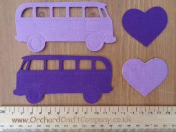 Fabric  Iron On VW Campervans. Plain colours