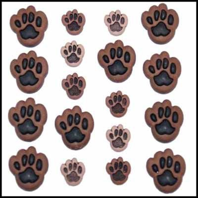 Dress It Up Buttons - Button Fun, Paws
