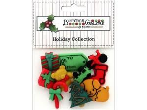 BUTTONS GALORE THEME, BUTTON HOLIDAY UNDER THE TREE