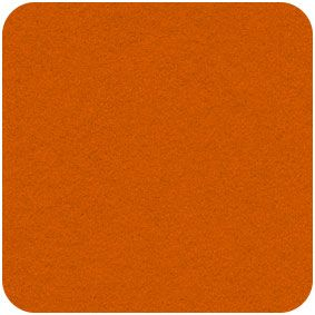 Acrylic Felt Craft Square Jaffa Orange