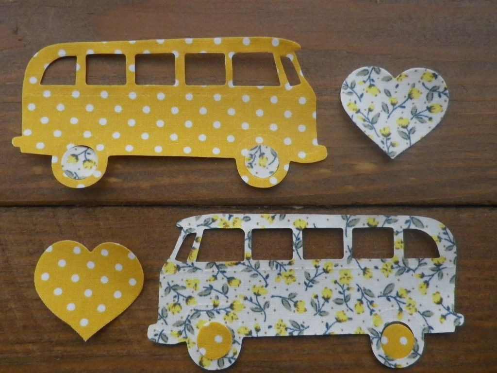 Fabric Iron On VW Campervans
