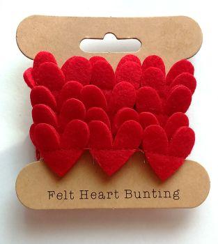Felt Heart Bunting
