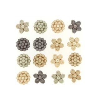 Dress It Up -  Embellishments Buttons - Vintage Pearls