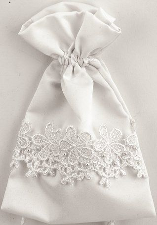 Satin Wedding Pouches - White Product