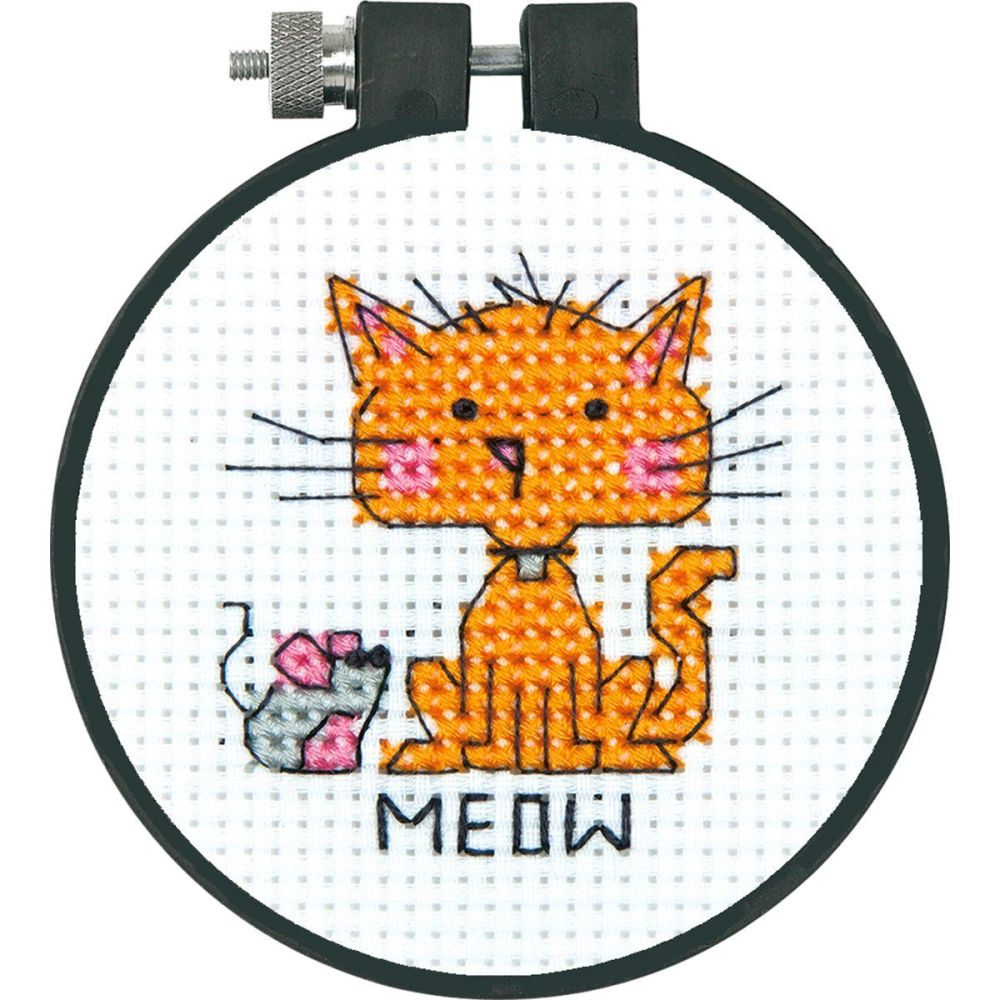 Cat, Counted Cross Stitch Kit  - Meow