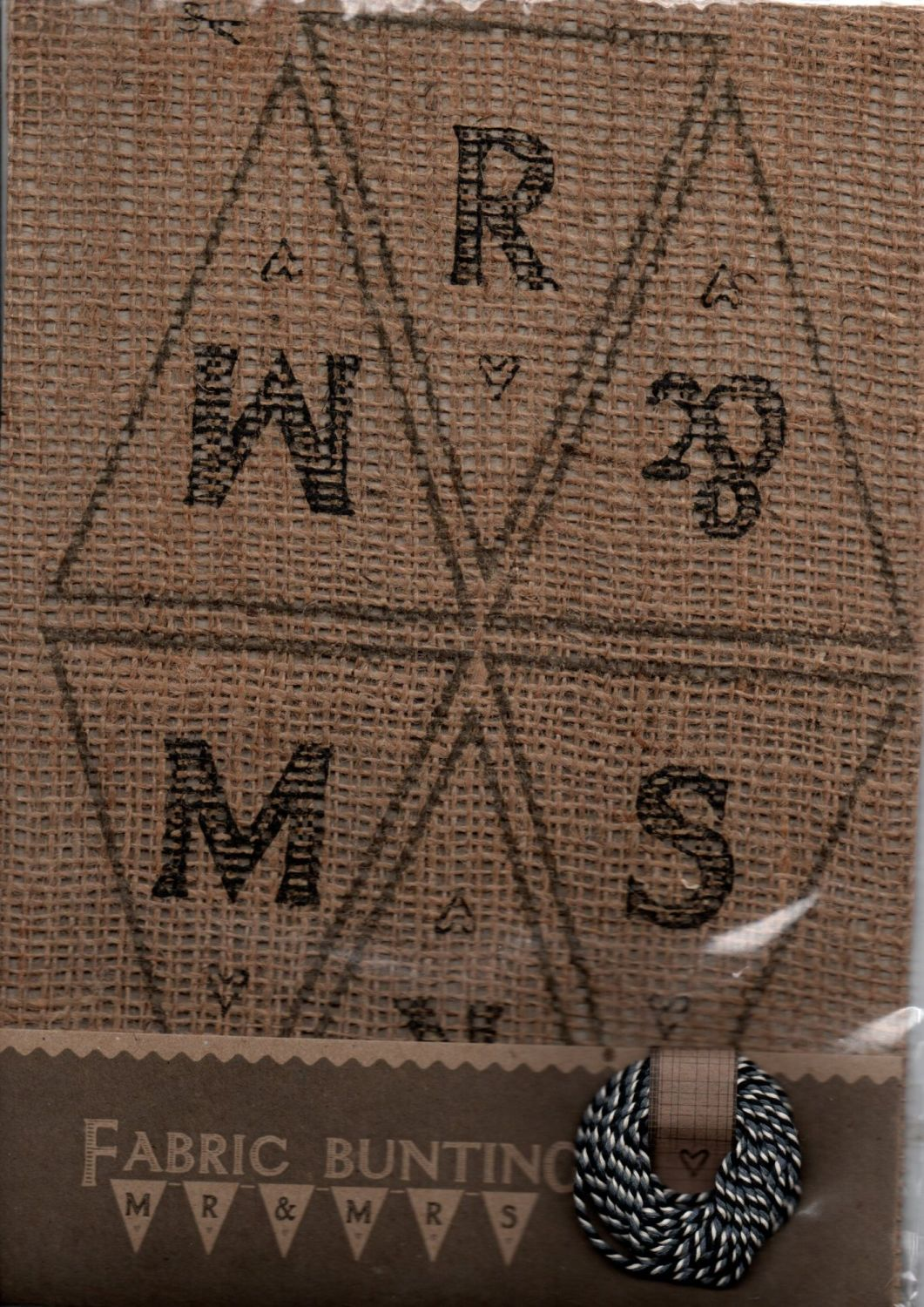 East of India MR and MRS Fabric Bunting Kit