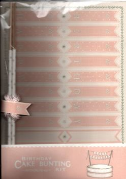 East Of India Birthday Cake Bunting Kit - Pink