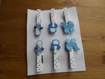 Blanket clips - Baby Themed- Blue