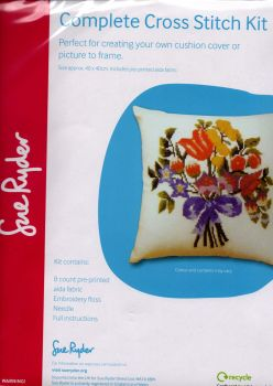 Floral design Cross Stitch Kit. Sue Ryder