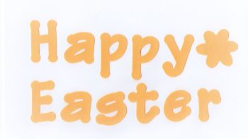 Iron on Fabric  Letters -Happy Easter,  4 - 5 cm letters