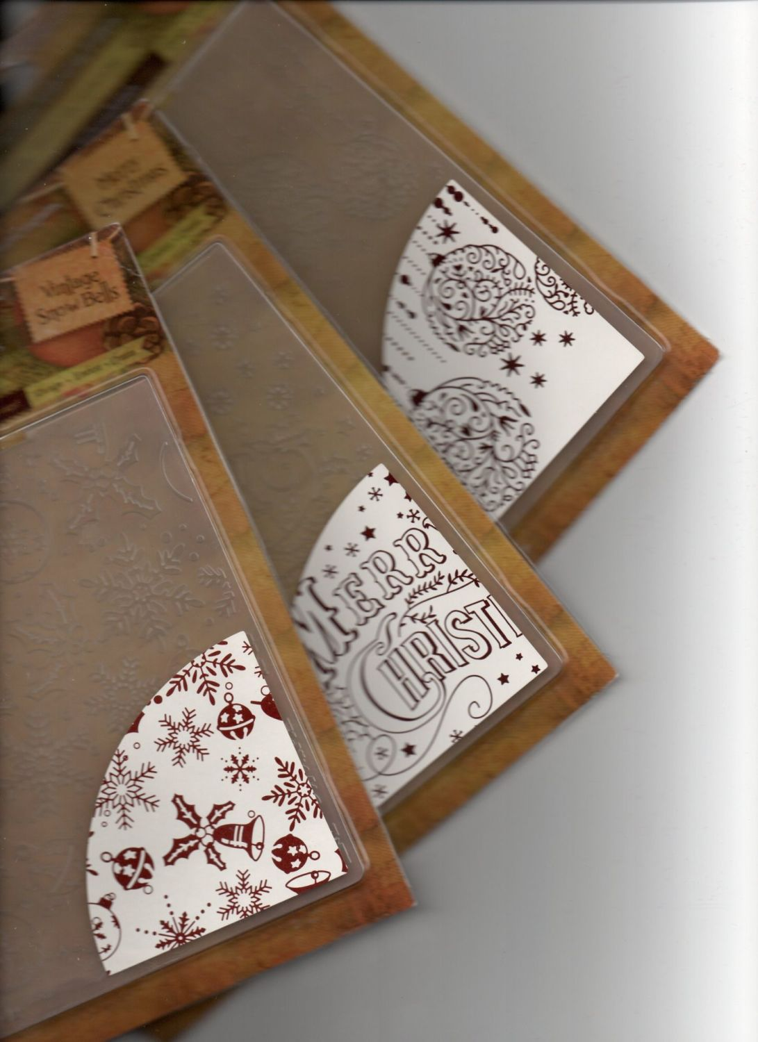 3 Pack of Vintage Christmas Collection 6x6 Embossing Folders