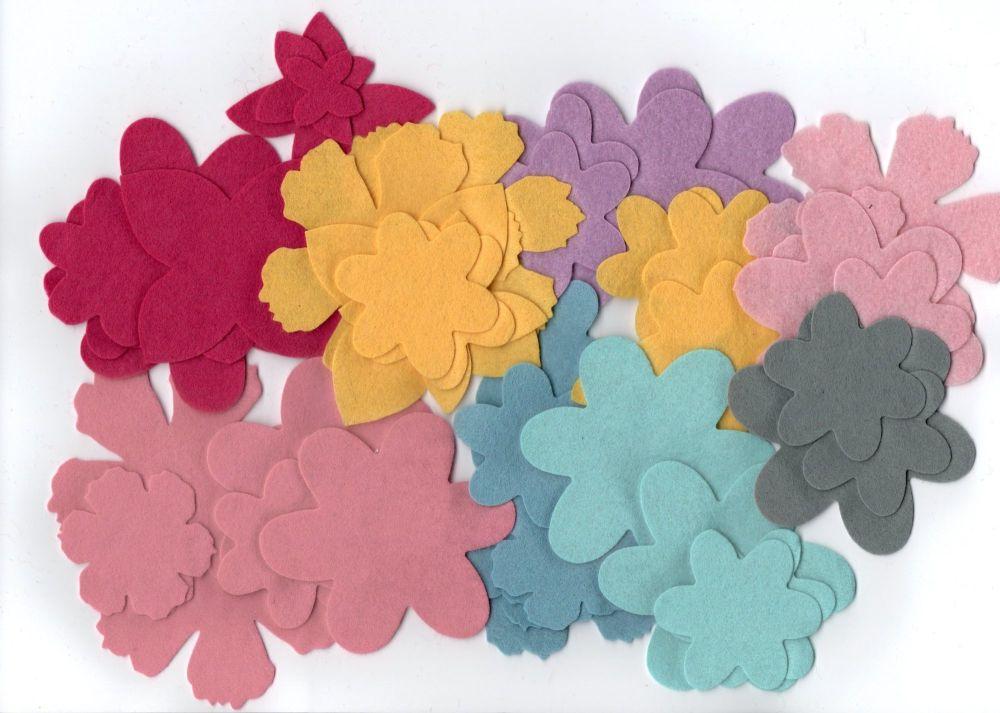 70 Felt Flower Shapes