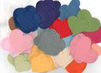 70 Felt Heart Shapes