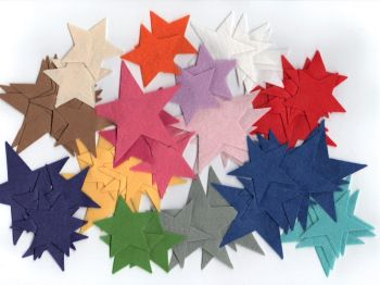 70 Felt Star Shapes