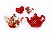 Fabric Iron On Teapots