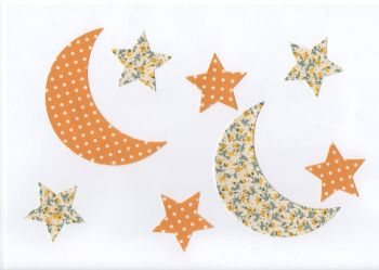 Fabric Iron On Moons and Stars