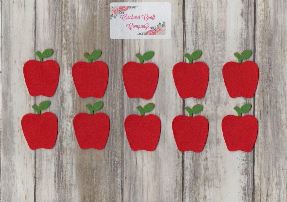 10 Felt Apples