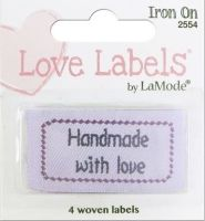 Love Labels by La Mode. Handmade With Love