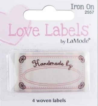 Love Labels by La Mode. Handmade By