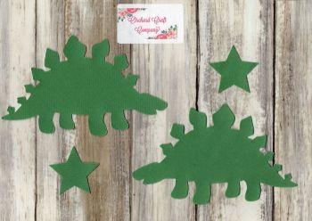Fabric Iron On Dinosaurs, Plain colours,Stegosaurus