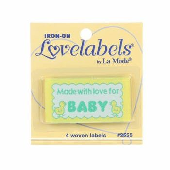 Love Labels by La Mode. Made With Love For Baby