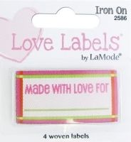 Love Labels, Hand Made With Love For (Pink)