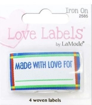 Love Labels, Hand Made With Love For (Blue)