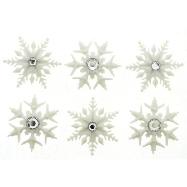 Dress It Up Buttons -Fancy Snowflakes