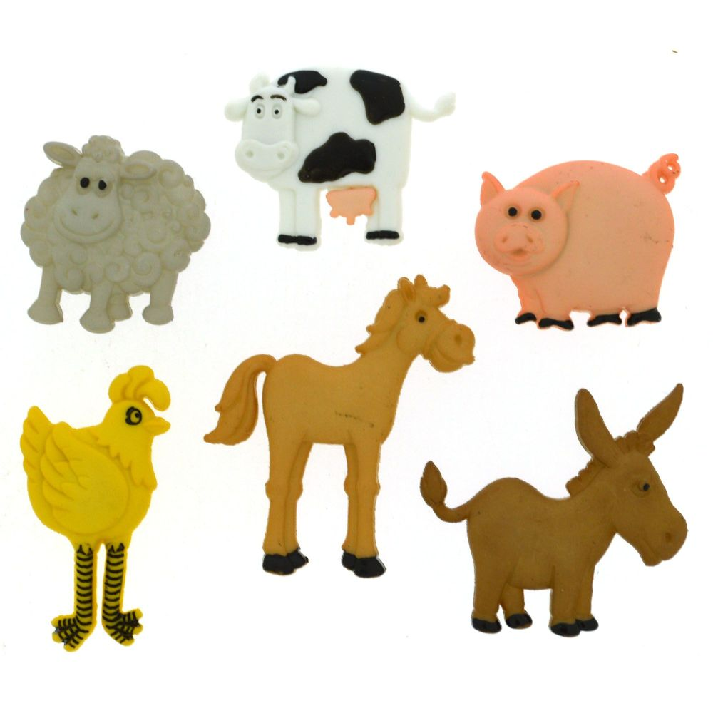 Dress It Up Buttons - FUNNY FARM