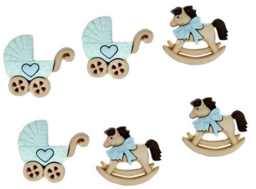 Dress It Up Buttons -Rocking Horse and Pram