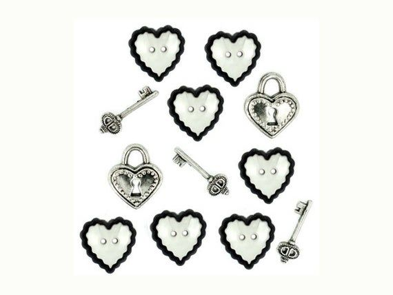 Dress It Up Buttons , Love Story