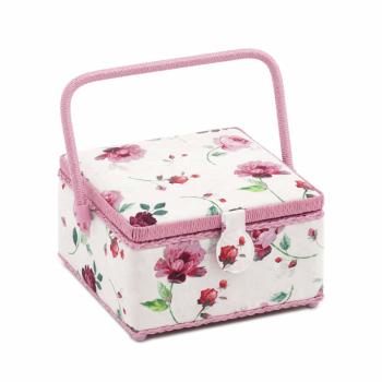 Medium, Square Sewing Box, Rosewater Design