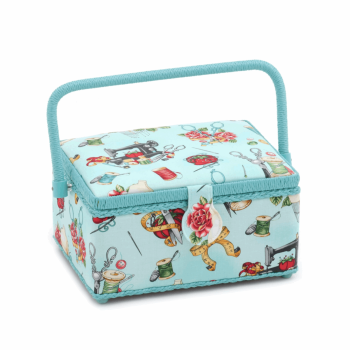 Small Sewing Box,  Tattoo Notions Sewing Design