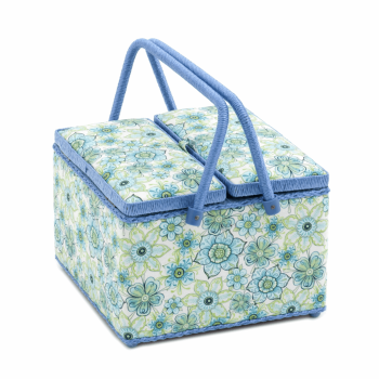 Large Square Sewing Box,Twin Lid, Lydia Design